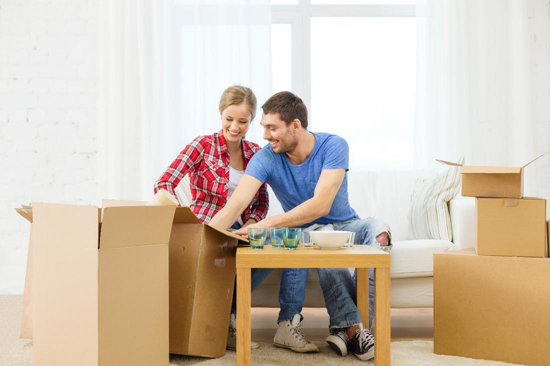 This is a picture of a couple preparing for home moving.